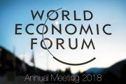 Presidente e Comissários europeus no Fórum Económico Mundial de Davos 2018 (2)
